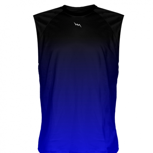Black+Blue+Fade+Sleeveless+Shirts
