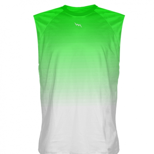 Neon+Green+to+White+Fade+Sleeveless+Shirts