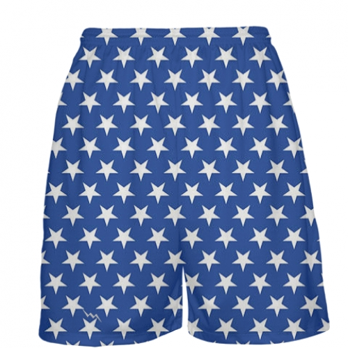 Blue+Stars+Basketball+Shorts