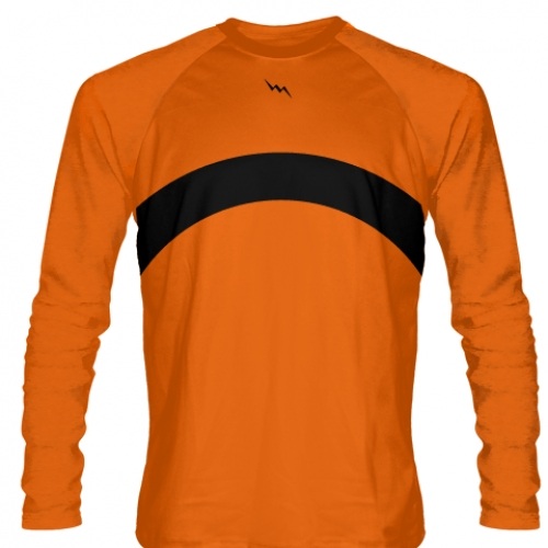 Orange+Long+Sleeve+Shooter+Shirts+Basketball