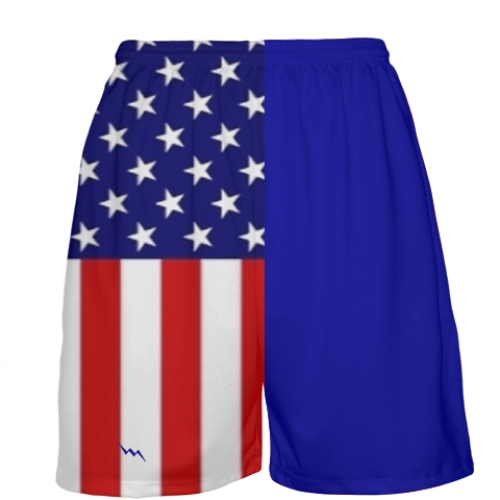 American+Flag+Basketball+Shorts