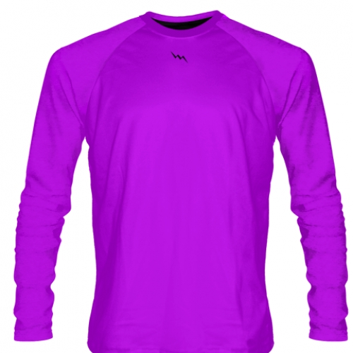 Purple+Long+Sleeve+Softball+Jerseys