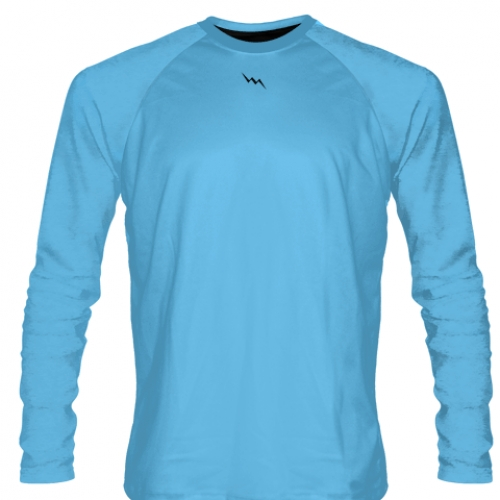 Light+Blue+Long+Sleeve+Softball+Jerseys