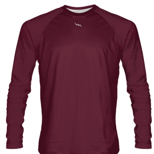 Maroon+Long+Sleeve+Softball+Jerseys