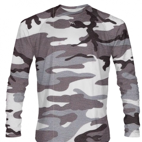 Gray+Camouflage+Long+Sleeve+Softball+Jerseys