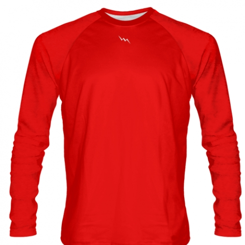 Red+Long+Sleeve+Softball+Jerseys