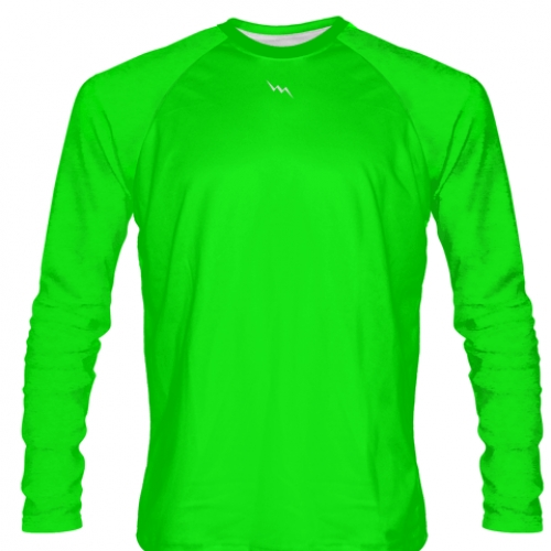 Neon+Green+Long+Sleeved+Softball+Jerseys