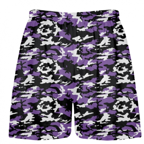 Purple+Black+Camouflage+Lacrosse+Shorts