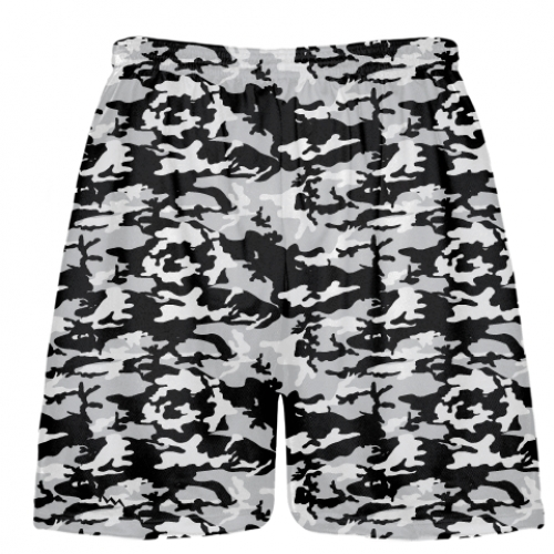Black+and+Silver+Camouflage+Lacrosse+Shorts