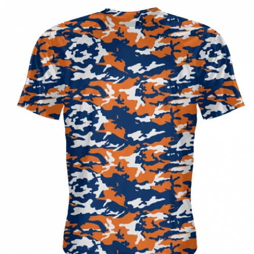 Orange+Blue+Camouflage+T+Shirts