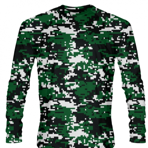 Dark+Green+Digital+Camouflage+Long+Sleeve+Shirts