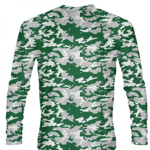 Long+Sleeve+Camouflage+T+Shirts+Green+Gray