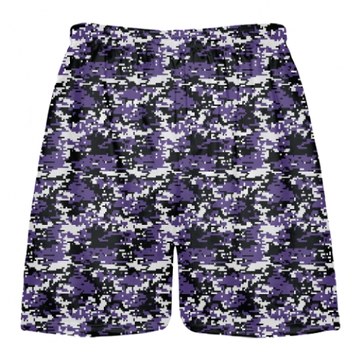 Purple+Lacrosse+Shorts+Digital+Camouflage