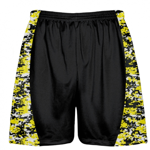 Yellow+Digital+Camouflage+Lacrosse+Shorts