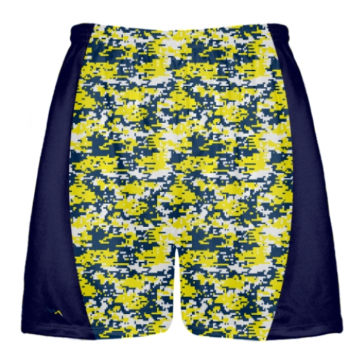 Navy+Blue+Yellow+Digital+Camouflage+Lacrosse+Shorts