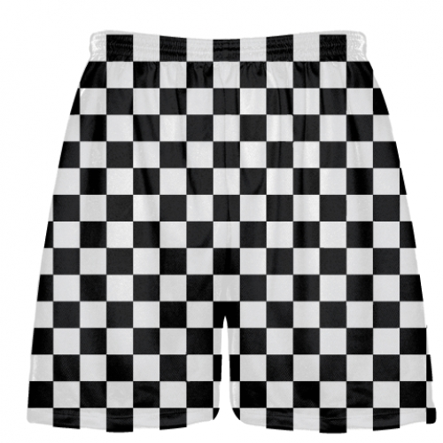 Black+and+White+Checker+Board+Lacrosse+Shorts