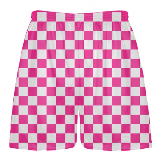 Fluorescent+Pink+Checker+Board+Shorts