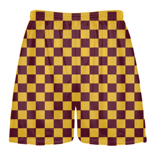 Maroon+and+Gold+Checker+Board+Shorts