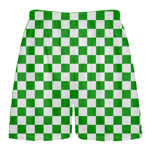 Kelly+Green+White+CheckerBoard+Shorts