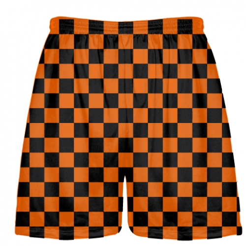 Checkerboard+Shorts+Orange+Black