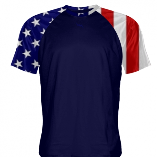 USA+Flag+Lacrosse+Shirts