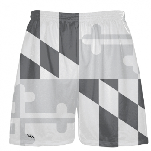 Gray+Maryland+Flag+Lacrosse+Shorts