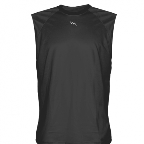 Charcoal+Gray+Sleeveless+Softball+Jerseys