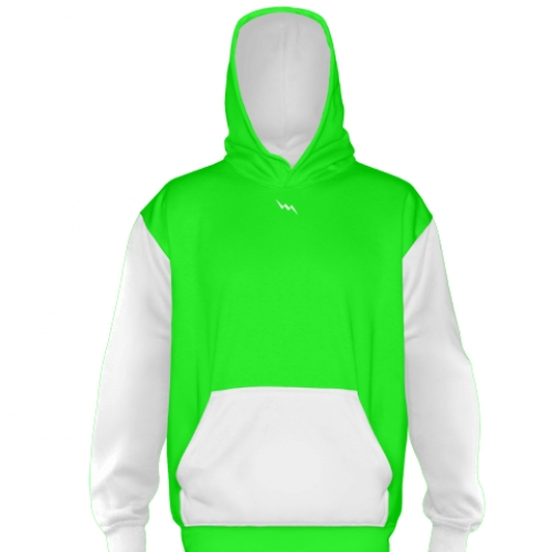 Neon+Green+Basketball+Sweatshirts