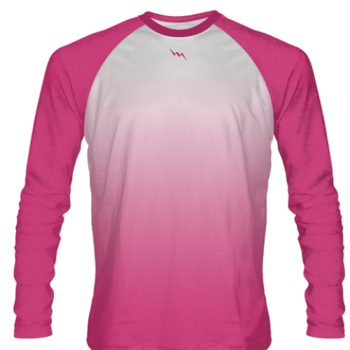 Hot+Pink+Long+Sleeve+Football+Shirts