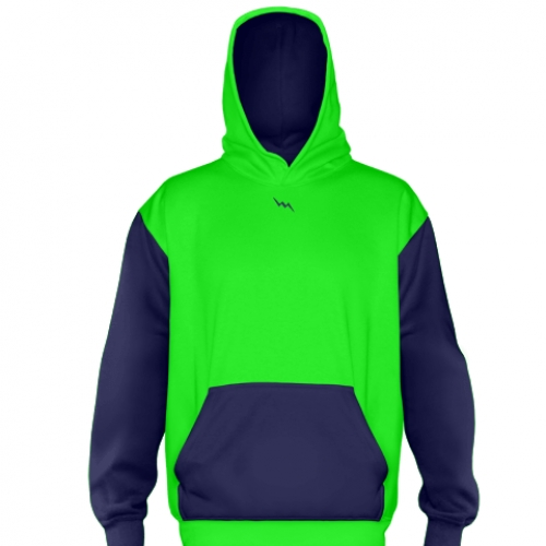 Neon+Green+Football+Sweatshirts