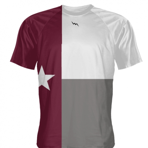 Maroon+Texas+Flag+Shooter+Shirts