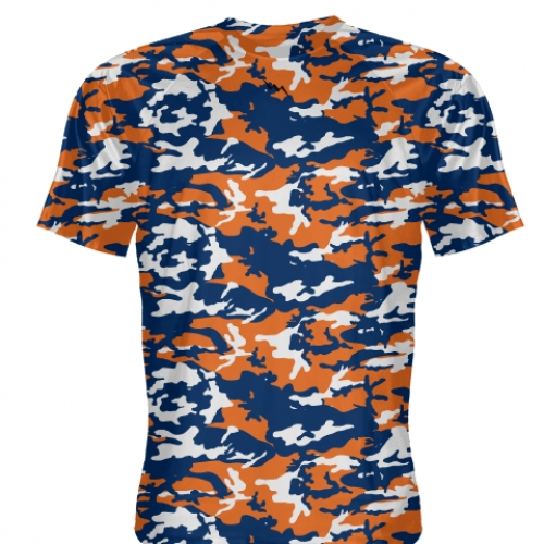 Navy+Blue+Orange+Camouflage+Basketball+Shooting+Shirts