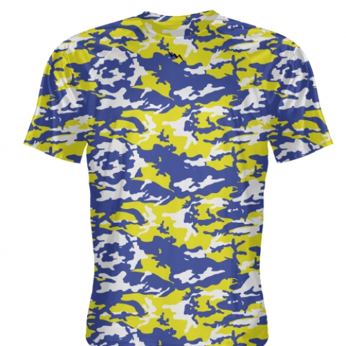 Royal+Blue+Yellow+Camouflage+Basketball+Shooter+Shirts