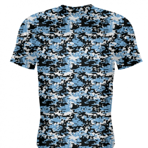 Carolina+Blue+Digital+Camouflage+Basketball+Shooter+Shirts