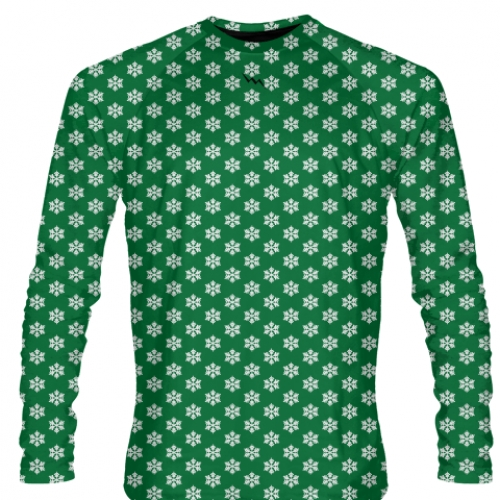 Green+Snowflake+Long+Sleeve+Shirts+-+Christmas+Shirts