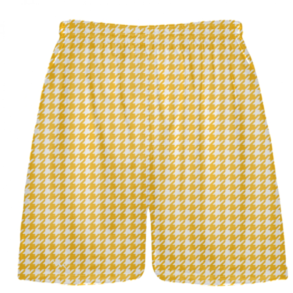 Athletic+Gold+Houndstooth+Shorts+-+Lacrosse+Shorts