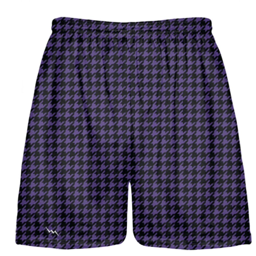 Black+Purple+Houndstooth+Shorts+-+Sublimated+Shorts