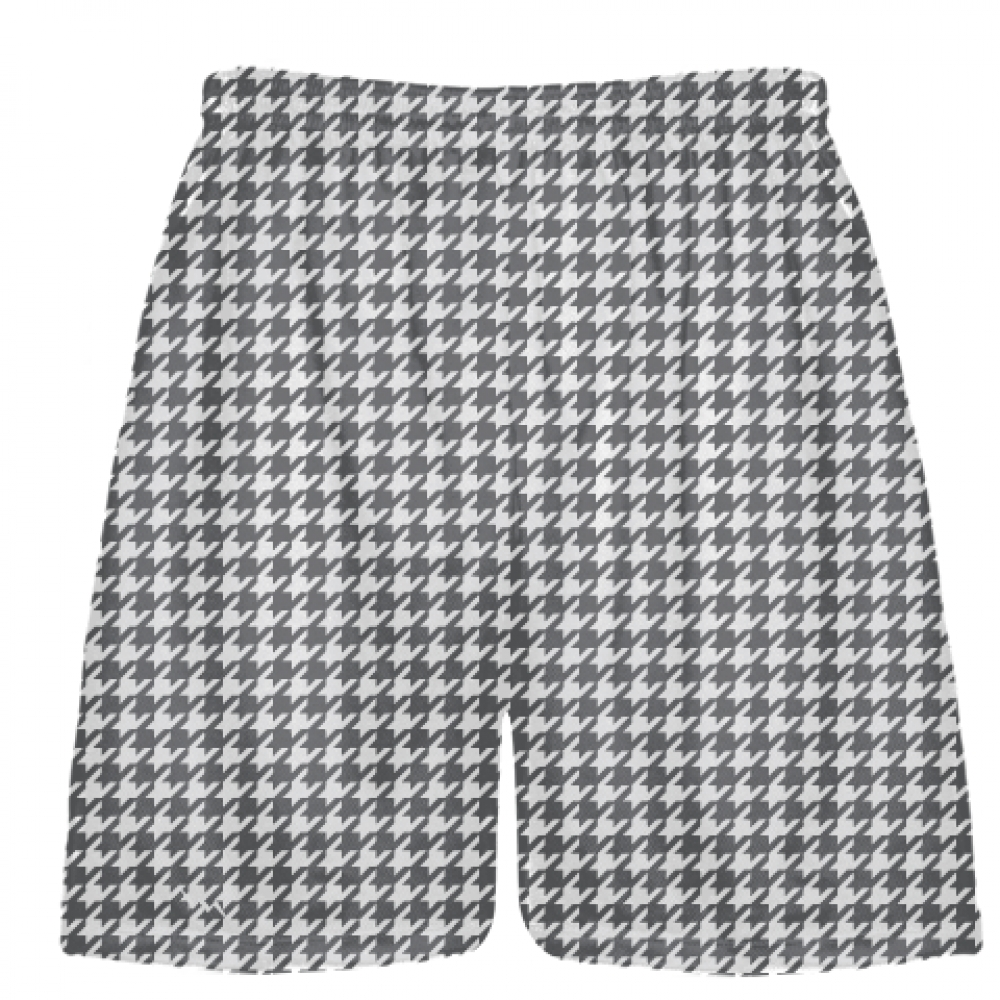 Charcoal+Gray+Houndstooth+Shorts+-+Sublimated+Shorts