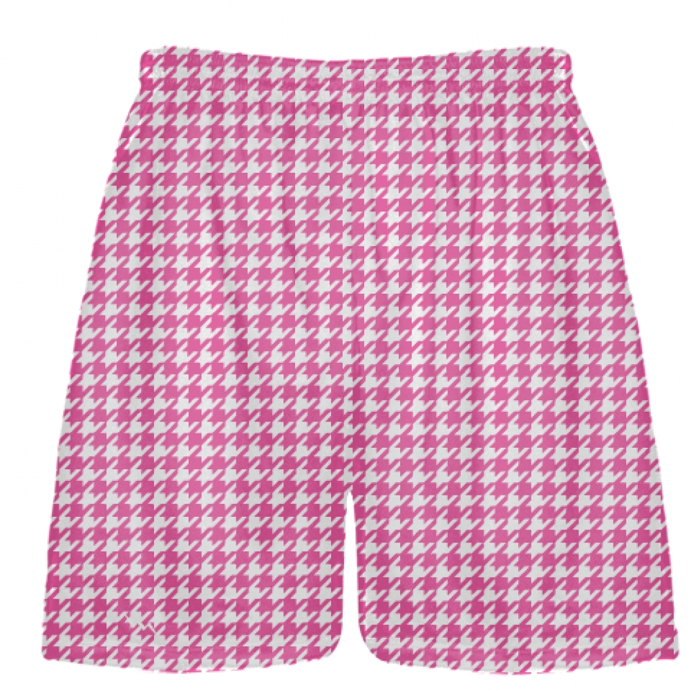 Hot+Pink+Houndstooth+Shorts+-+Sublimated+Shorts