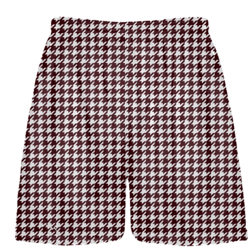 Maroon+Houndstooth+Shorts+-+Sublimated+Shorts