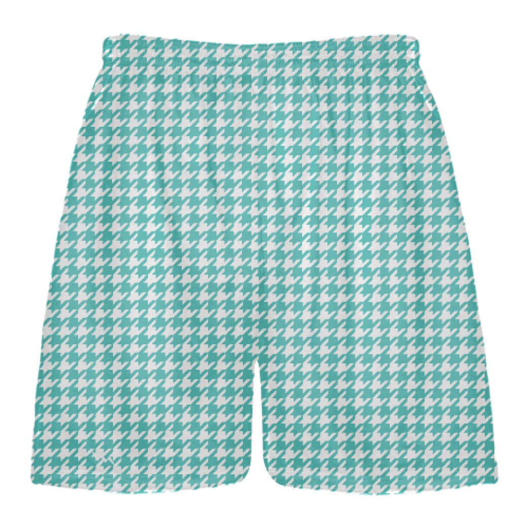 Turquoise+Houndstooth+Shorts+-+Sublimated+Shorts
