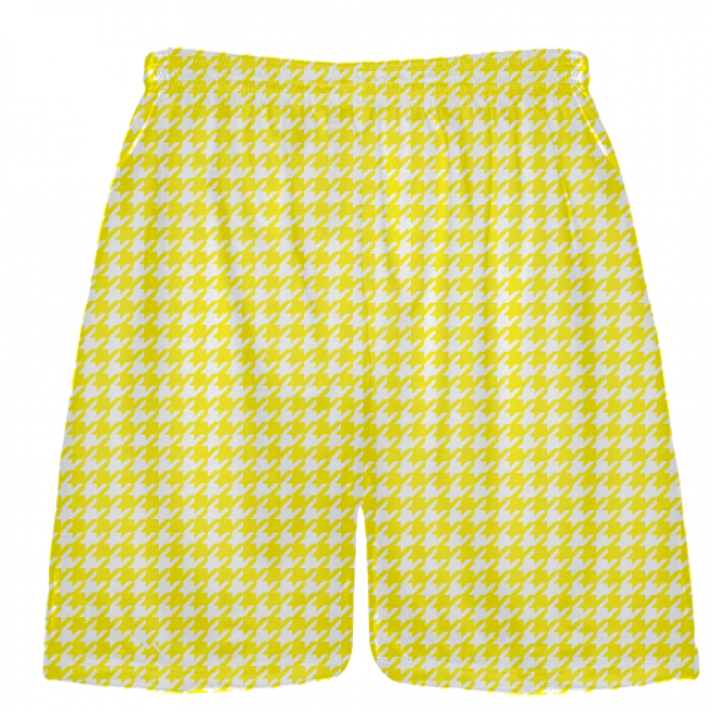 Yellow+Houndstooth+Shorts+-+Sublimated+Shorts