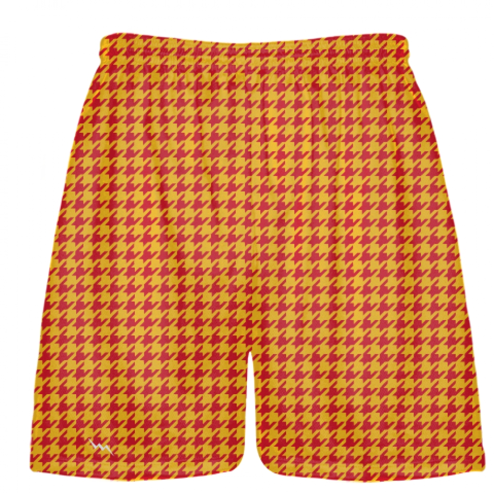 Red+Gold+Houndstooth+Shorts+-+Sublimated+Shorts