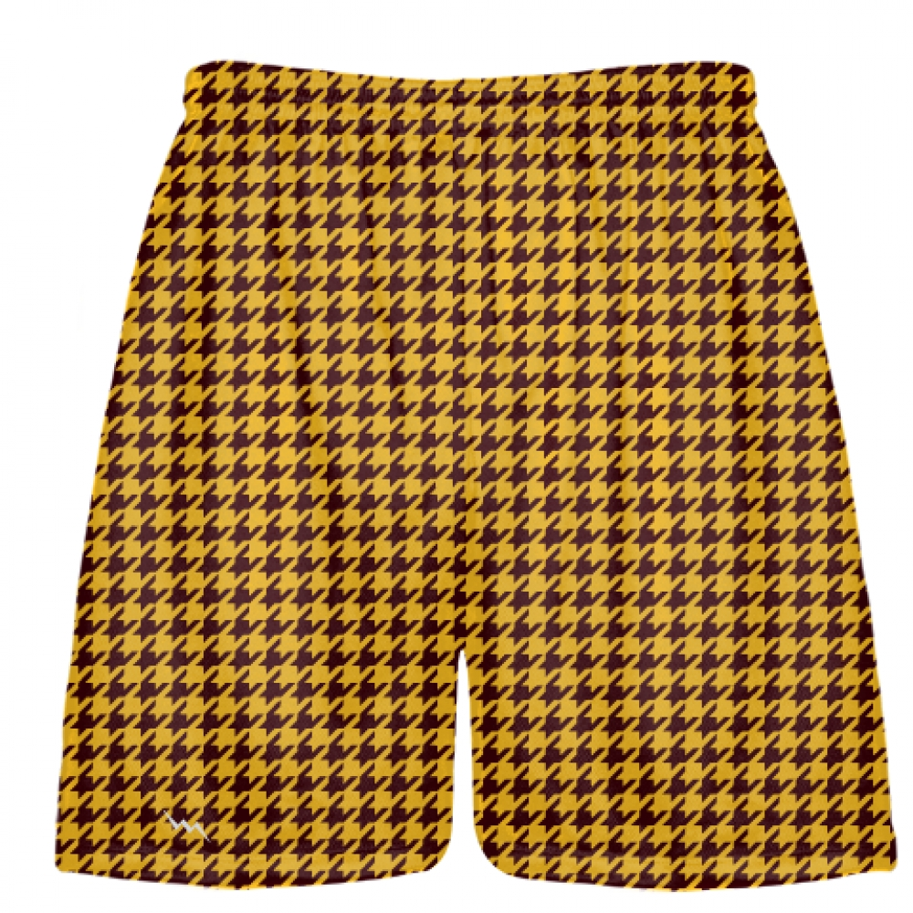 Maroon+Gold+Houndstooth+Shorts+-+Sublimated+Shorts