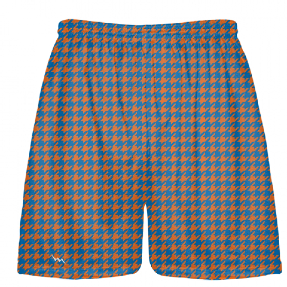 Orange+Blue+Houndstooth+Shorts+-+Sublimated+Short