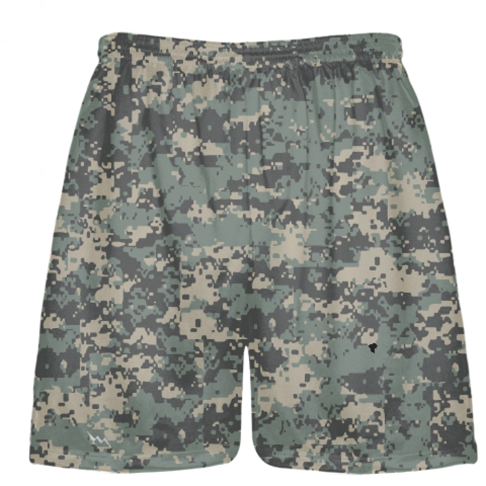 Army+Camouflage+Lacrosse+Shorts