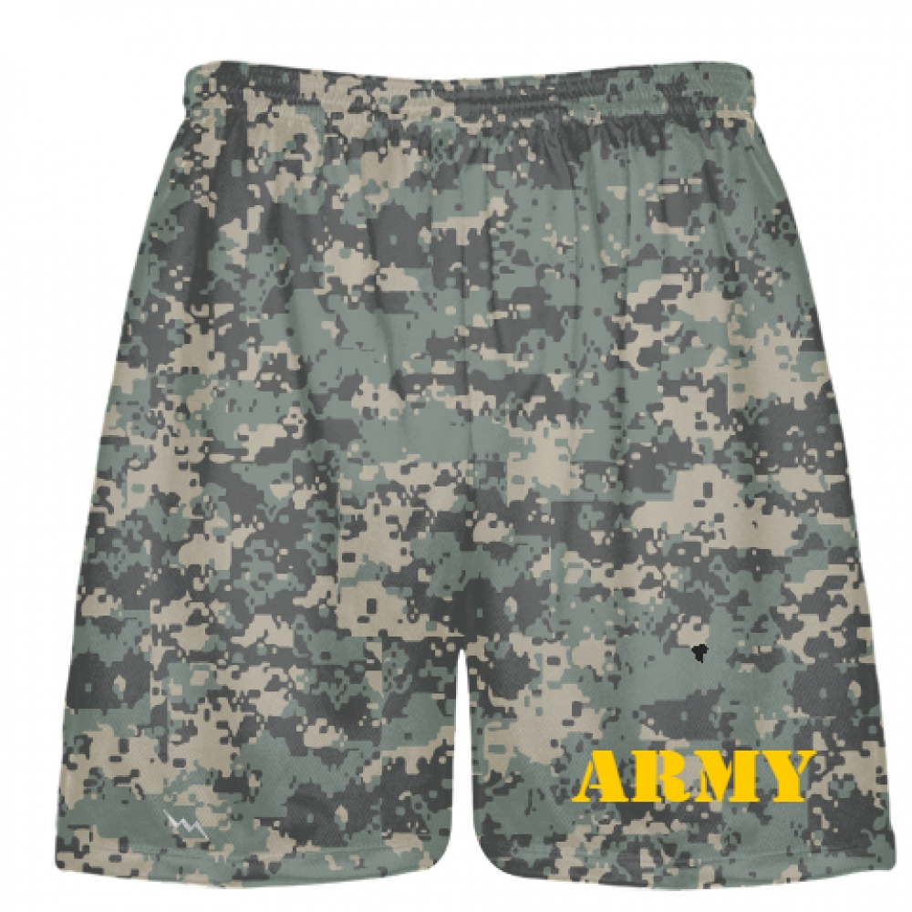 Gold+Print+Army+Digital+Camouflage+Shorts