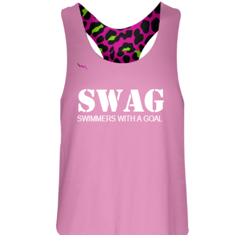Pink+Swimmers+With+a+Goal+Pinnie+-+Girls+Pinnies