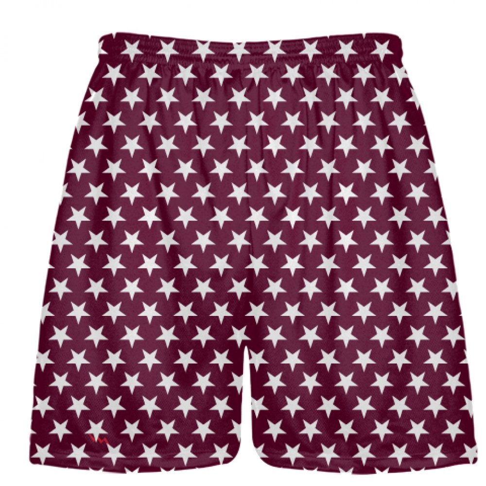 Maroon+White+Stars+Shorts+-+Sublimated+Shorts