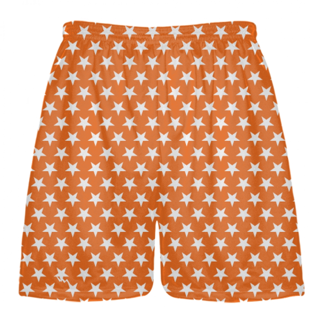 Orange+White+Stars+Shorts+-+Sublimated+Shorts
